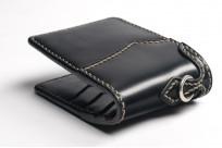 Flat Head Wild Child Leather & Cordovan Wallet - Black - Image 5
