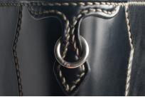 Flat Head Wild Child Leather & Cordovan Wallet - Black - Image 4