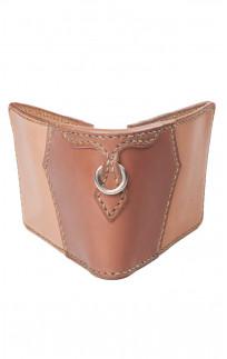Flat Head Wild Child Leather & Cordovan Wallet - Tan - Image 0