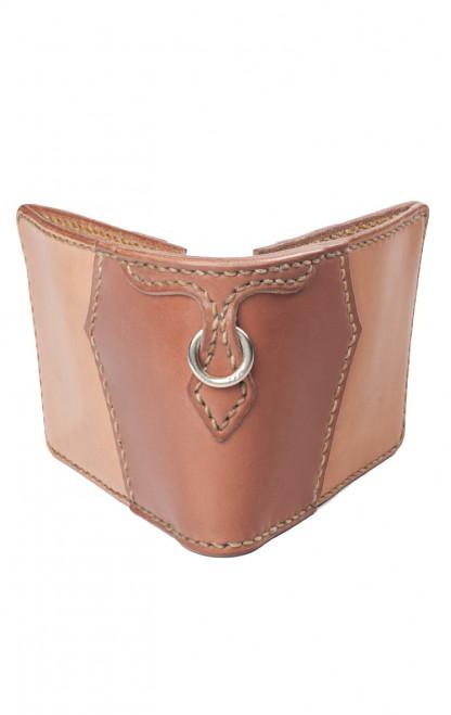 Flat Head Wild Child Leather & Cordovan Wallet - Tan