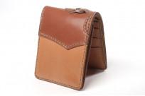 Flat Head Wild Child Leather & Cordovan Wallet - Tan - Image 4