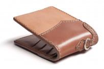 Flat Head Wild Child Leather & Cordovan Wallet - Tan - Image 5