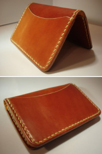 Flat Head Cordovan Card Case - Tan - Image 0