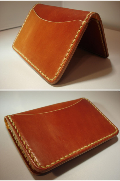 Flat Head Cordovan Card Case - Tan