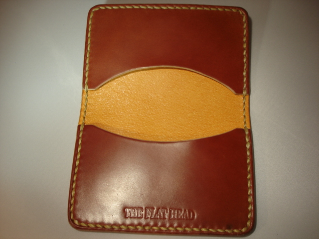 Flat Head Cordovan Card Case - Tan - Image 1